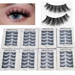 3496ea43bbe 5 Pairs 1box 3d Eyelash Lashes Extensions Natural Thick False Eyelashes  Stage Makeup Fake Big Eye Lashes