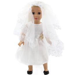Handmade wedding dolls online shopping - Hot selling bridal veil wedding dress Doll Clothes fits cm Santa Claus baby Dolls other Dolls Handmade Dolls Clothes
