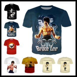 Gold Print Art Australia - Fashion Style Martial Arts Superstar Bruce Lee Cosplay T-shirt 3D Print Men Womens Unisex Summer Round Collar Short Sleeve Casual Tops K996
