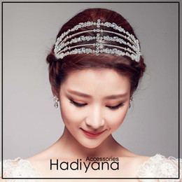 $enCountryForm.capitalKeyWord Australia - Hadiyana Luxury Silver Cubic Zirconia Wedding Tiara Crown Bride Hair Accessories Tiaras High Quality Princess Crown Party Bc4721 J 190430