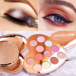 eye shadow 12 Australia - 12-color Heart-shape Eyeshadow Palette Pearlescent Charming Waterproof Smudge-proof Long-lasting Shimmer Matte Eye Shadow