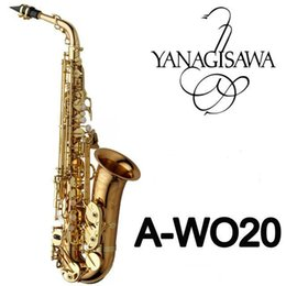 Wholesale Brand New YANAGISAWA Alto Saxophone A WO20 Gold Lacquer Sax Professional Mouthpiece Patches Pads Reeds Bend Neck