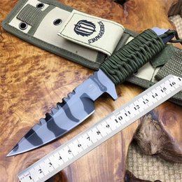 Discount strider knives - STRIDER Fixed Knife 8 inches Wrapped Handle tactical gear Outdoor knives Nylon Sheaths