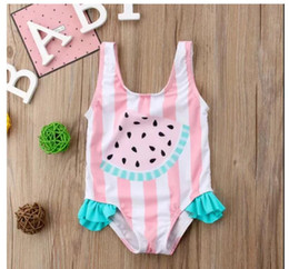 9c656e0ce2 2019 kids girls swimsuit one piece pink Unicorn watermelon flamingo print  one-piece bathing suit toddler swimwear