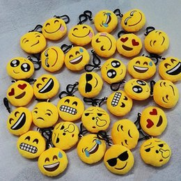 Boy Chain Pants Australia - hot sale 2017 QQ emoji Toys key chain 6cm emoticons smiley little pendant emotion yellow QQ plush pants handbag pendant C044