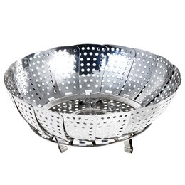 $enCountryForm.capitalKeyWord Australia - Stainless Steel Folding Dish Boilers Food Basket Mesh Vegetable Vapor Cooker Steamer Expandable Pannen Kitchen Tool S M L DH0479