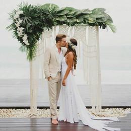 Ivory Linen Suit Australia - Ivory Linen Beach Wedding Suits for Man Prom Suits Blazers Jacket Groom Tuxedos 2Piece Coat+Pants Groomsmen Suits Slim Fit Terno Masculino