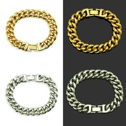 promise chain NZ - Width Hiphop Hip Hop Trendsetter Cuba Chain Hand Decorate Man Bracelet Ornaments Hot Sell Natural Crystal shining Party promise