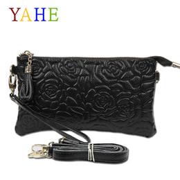 $enCountryForm.capitalKeyWord NZ - Designer YaHe Women Genuine Leather Purse and Handbag Female Clutch Phone Wallet Girls Shoulder Bag Long Brand Flower Rose Bag For Ladies