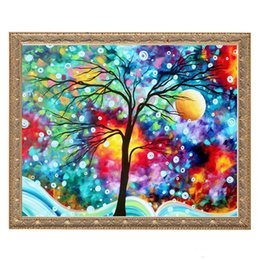 $enCountryForm.capitalKeyWord Australia - Rainbow Tree Painting DIY 5D Diamond stitch Round 3D Diamond Stitch Tools Kit diamond mosaic Room Decor