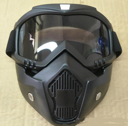 Goggles For Half Helmets Australia - Hot Sales Modular Mask Detachable Goggles And Mouth Filter Perfect for Open Face Motorcycle Half Helmet or Vintage Helmets