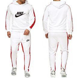 Wholesale mens casual clothes sale online – oversize Hot sale set sweatsuit Tracksuit Men hoodies pants Mens Clothing Sweatshirt Pullover women Casual Tennis Sport Tracksuit Sweat Suit NO D
