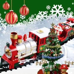 Ingrosso vagonetto elettrico di Natale piccolo giocattolo in treno, elettrico auto giocattolo educativo per bambini