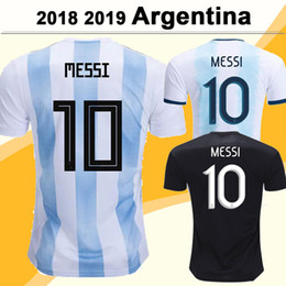ArgentinA AwAy soccer online shopping - 2019 Argentina National Team MESSI DI MARIA Soccer Jerseys DYBALA AGUERO HIGUAIN Home Away Mens Short Sleeve Football Shirts Uniforms