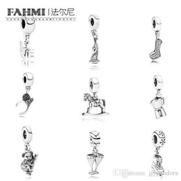 ice flags Canada - FAHMI 100% 925 Sterling Silver Charming Ice Skates High Heels Hanging Charm Koala Coffee Lovers Free Goddess Pendant Charm