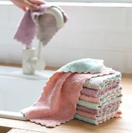 $enCountryForm.capitalKeyWord Australia - 1pc Super Absorbent Microfiber kitchen dish Cloth High-efficiency tableware Household Cleaning Towel kichen tools gadgets