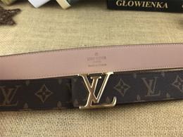 Letter m beLt buckLes online shopping - 2019 new Men womens Black belt Genuine leather Letter belts brass belt for gift top seller boxs