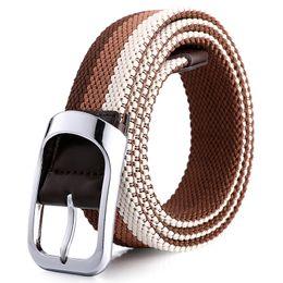 $enCountryForm.capitalKeyWord Australia - D002 Design belt high quality canvas mens belt yellow black white homme belts ladies brand waistband 200 cm free shipping