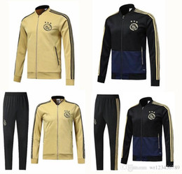 survetement football UK - 2018-19 Ajax FC Soccer jacket tracksuit 18 19 survetement ZIYECH TADIC HUNTELAAR DOLBERG SCHONE Jerseys Football jacket chandal