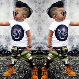 $enCountryForm.capitalKeyWord Australia - New Toddlers Baby Boys Clothes Tops T-Shirt + Camouflage Panties Dresses Set SY135