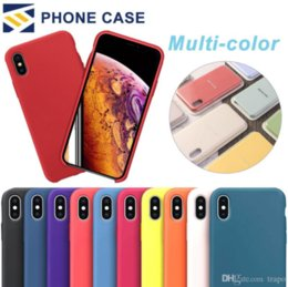 SamSung note original caSing online shopping - For iPhone X XR XS Max Color Official Case No Original Soft Silicone Cases Colorful Liquid Cover iPhone Plus With Ratail Package