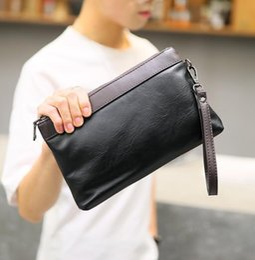 $enCountryForm.capitalKeyWord NZ - Factory wholesale brand men bag fashion multi-functional storage bag in hand way Oxford men wrist bag large capacity contrast leather wallet