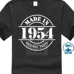 $enCountryForm.capitalKeyWord Australia - Made In 1954 Mens Funny T Shirt Christmas Gift For Him Dad Grandad Fathers Day Cotton Low Price Top Tee For Teen Boys