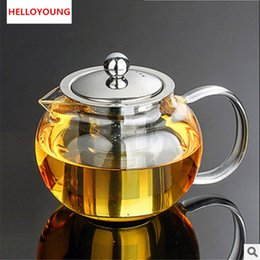 best kettles NZ - Hot Selling Best Heat Resistant cup Tea Pot Flower Tea Set Puer kettle Coffee Teapot Convenient With Infuser Office Home Teacup