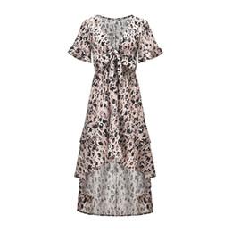 6588c14a26 Womens mid calf summer dresses online shopping - women Summer Hot Sale  Asymmetrical Bell Sleeve Dresses
