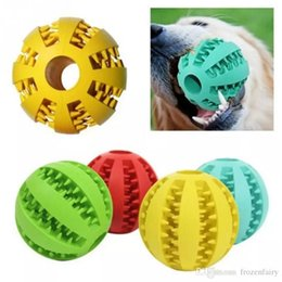 $enCountryForm.capitalKeyWord NZ - 7CM Rubber Watermelon Pattern Ball Funny Natural Non-toxic Pet Dog Bite Resistant Teeth Cleaning Chew Toy Big Size aa300-307 2018010912