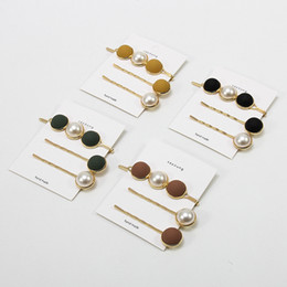 Pretty Hair For Australia - New Arrival 3 Pcs set Pretty Simulated Pearls Hair Stick Clips For Ladies Girl Wedding Headwear Yellow Black Pins Beauty Tools Accessories