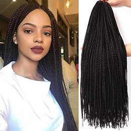 $enCountryForm.capitalKeyWord Australia - Long Box Braids Crochet Braids Synthetic Crochet Hair Box Braid Hair Extension Kanekalon Braiding Hair Long for Black Women