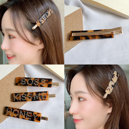 $enCountryForm.capitalKeyWord NZ - INS web celebrity hydraulic drill English letter hair clip cutie bangs word clip acetic acid board leopard print side clip