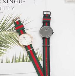 $enCountryForm.capitalKeyWord Australia - 2019 famous brand Daniel women mens Wellington's WATCHes fashion nylon strap style 36mm silver ladies Bracelet watches with gift box relojes