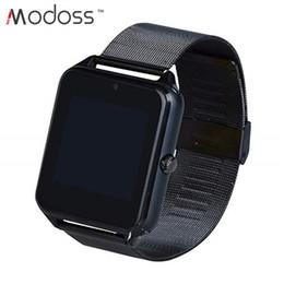 Bluetooth Smart Watch Sim Australia - Z60 Smart Watch Bluetooth Camera Support SIM TF Card Stainless Steel Watch Strap Pedometer Sports Wristwatch