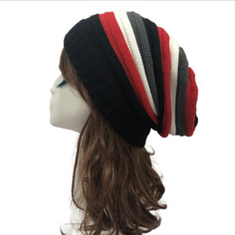 jamaica hats Australia - Winter Hats for Men Women Jamaica Rasta Reggae Rainbow Wool Knitted Beanie Hats Casual Man Caps Bonnet Girl Boy 2019