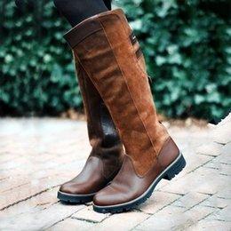 Toptan satış Günlük Roma Stili Çizme Sonbahar Kış Uyluk Yüksek Gevşek Boots Botaş Mujer ayakkabı Vogue Binicilik Puimentiua Kadınlar Çizme