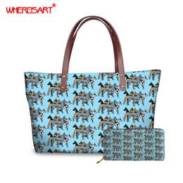 $enCountryForm.capitalKeyWord Australia - WHEREISART Great Dane Prints Women Luxury Tote Large Capacity Female Casual Shoulder Bag Lady Daily Handbag Fresh Beach bags