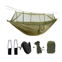 Discount aerial hammock - Outdoor Parachute Cloth Hammock With Mosquito Net Ultra Light Nylon Double Outdoor Camping Aerial Tent