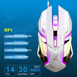 wired usb mouse NZ - Wired Glow USB Game Mouse Gamer Computer Mice for PC Mouse Laptop Desktop Gamer colorful light DPI LED drive fashion