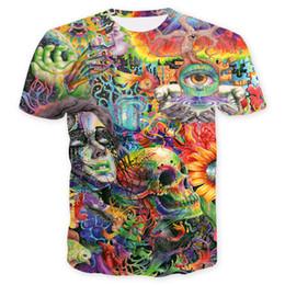 $enCountryForm.capitalKeyWord UK - Mens Fahion T Shirt 2019 Men New Designer T Shirts Lovers Skull 3D Short-sleeved Tops Tees Clothing Size S-3XL Mens Womens Tops Tee