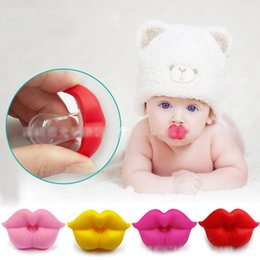 Baby Lip Colors Australia - Newborn funny Big red lips Pacifiers Silicone infant Pacifiers 5 colors baby Soother Nipples
