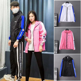 Discount thin sun protection jackets - Summer Women Men Champions Sun Protection Clothing Long Sleeve Hoodie Lovers Quick-dry Coat Outdoor Sport Breathable Jac