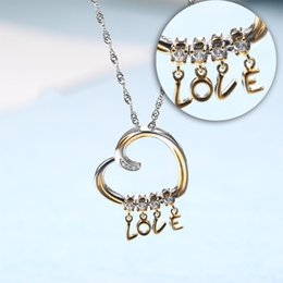Girl Chain Love Australia - New Arrival 925 Sterling Silver Custom Love Letter Necklace Silver Pendant Clavicle Luxury Chain For Lover Girl Mother Gift