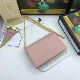 $enCountryForm.capitalKeyWord Australia - small rectangle bags classic pink color genuine leather mini shoulder bags with makeup mirror cross body bags match metal chain sweet style
