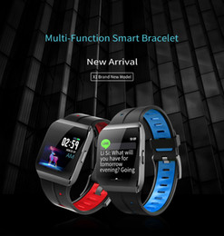 Smart Watches For Windows Australia - Latest X1 Smart Watch Color Screen IP68 Waterproof Heart Rate Blood Pressure Monitor Remote Control Camera Bracelet For Android IOS
