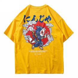 a2f10586b Black ninja shirt online shopping - Hip Hop Japanese Ninja T Shirt  Streetwear Cartoon Warrior Harajuku