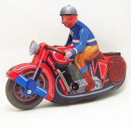 Old Gear Australia - Classic collection Retro Clockwork motorbike toy Wind up Metal Tin Gear Ride the motorcycle toy Mechanical toy christmas gift