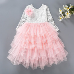Discount winter clothes for little girls - Little Girl Ceremonies Dress Baby Children's Clothing Tutu Kids Dresses for Girls Clothes Wedding Party Gown Vestid
