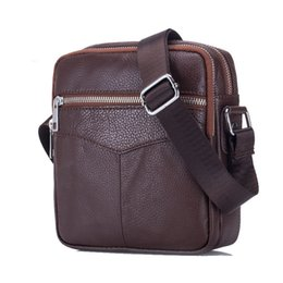 $enCountryForm.capitalKeyWord UK - good quality Vintage Cowhide Genuine Leather Messenger Bag Men Sling Chest Small Bag For Male Casual Top-handle Shoulder Bags 2019 New